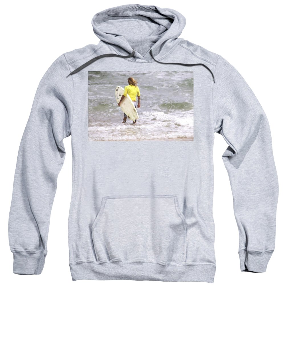 Man Sweatshirt featuring the photograph Into The Water by Alice Gipson