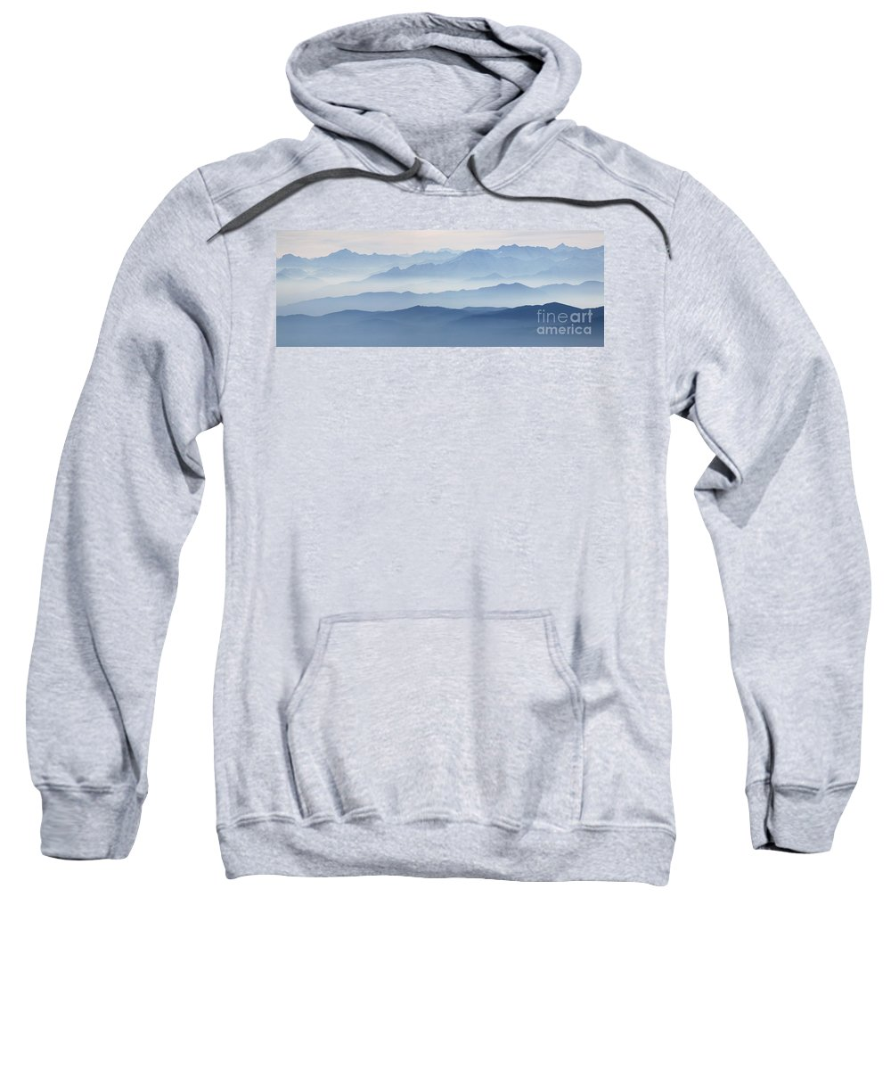 2012 Sweatshirt featuring the photograph Italian Alps In The Mist by Matteo Colombo