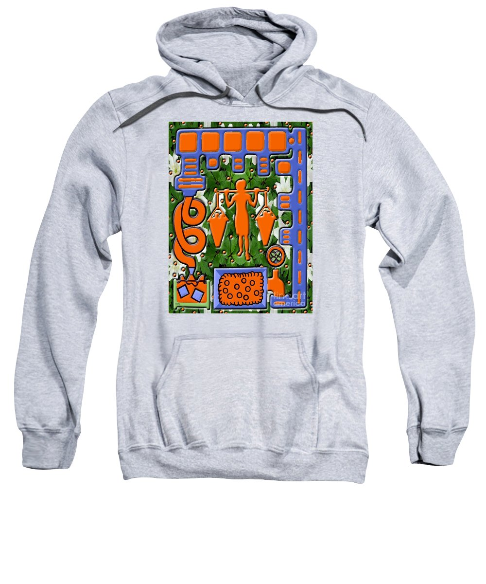 Food Sweatshirt featuring the painting Juice by Patrick J Murphy