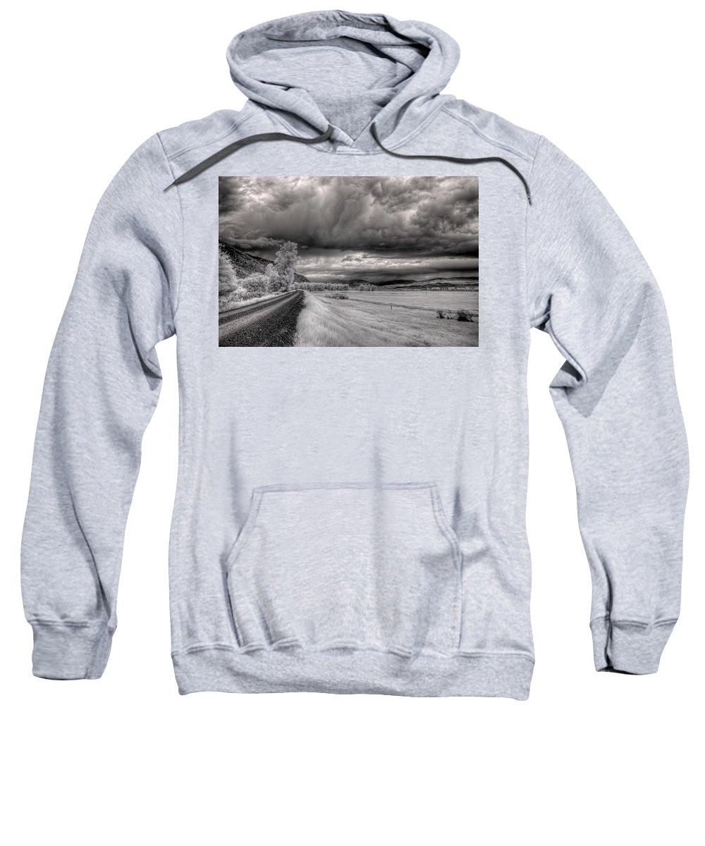 Landscape Sweatshirt featuring the photograph Kootenai Wildlife Refuge In Infrared 3 by Lee Santa