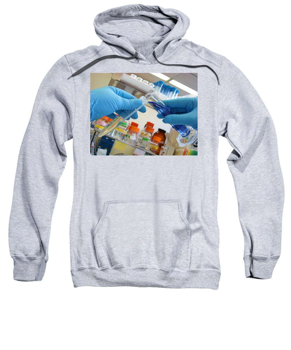 Analysis Sweatshirt featuring the photograph Laboratory Experiment In Science Research Lab by Olivier Le Queinec