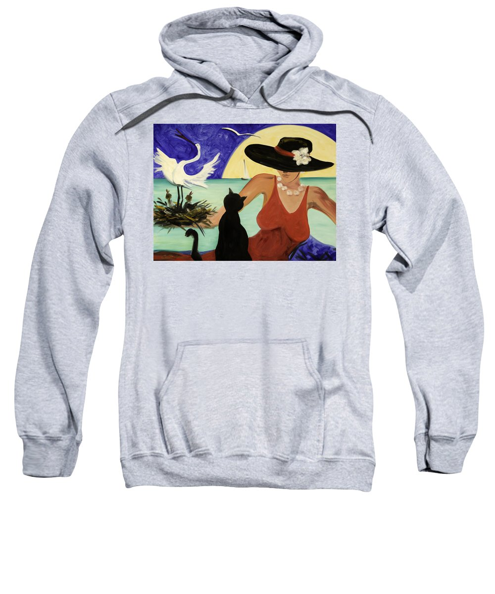 Colorful Art Sweatshirt featuring the painting Living The Dream by Gina De Gorna