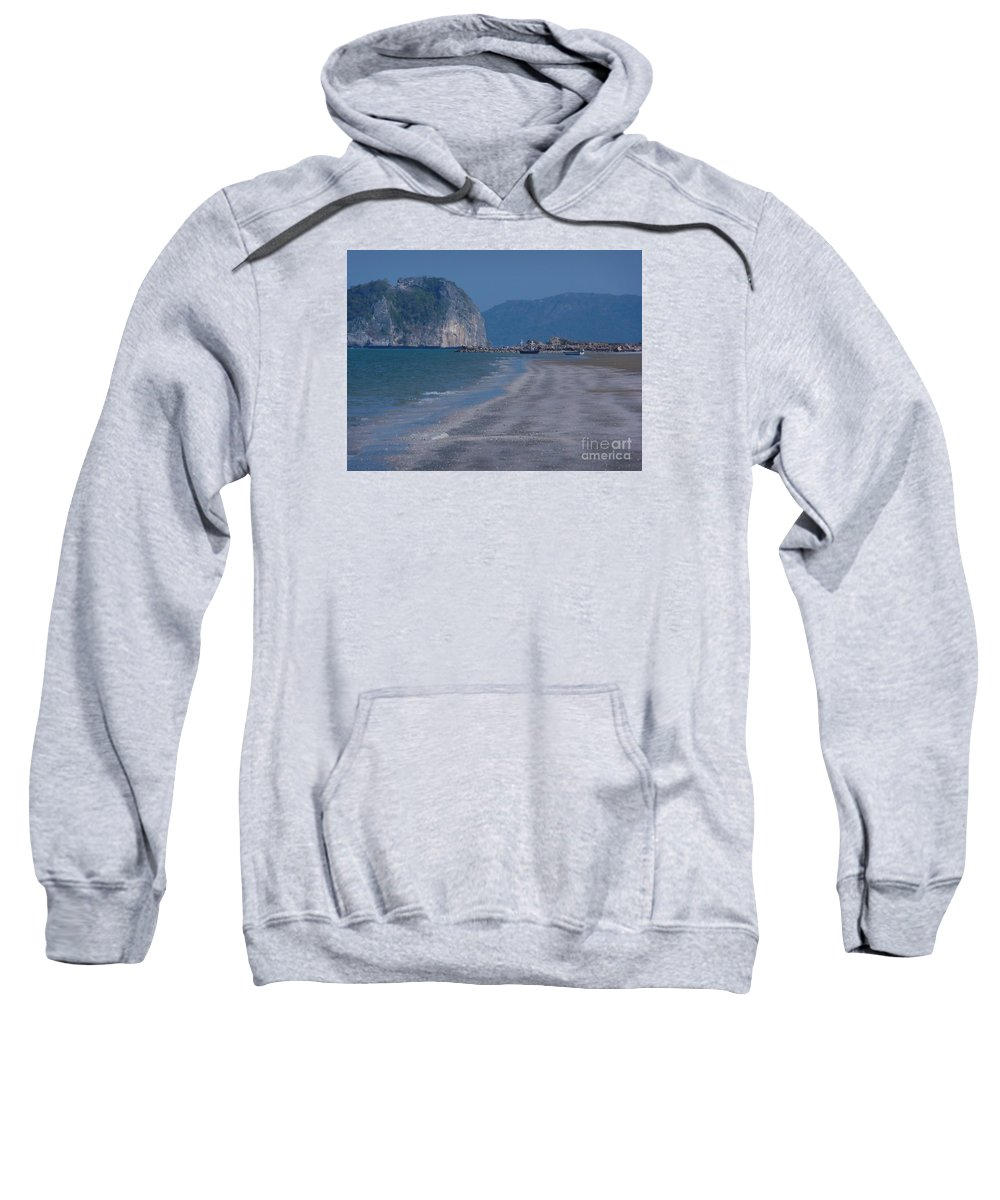 Seascape Sweatshirt featuring the photograph Low Tide by Pusita Gibbs