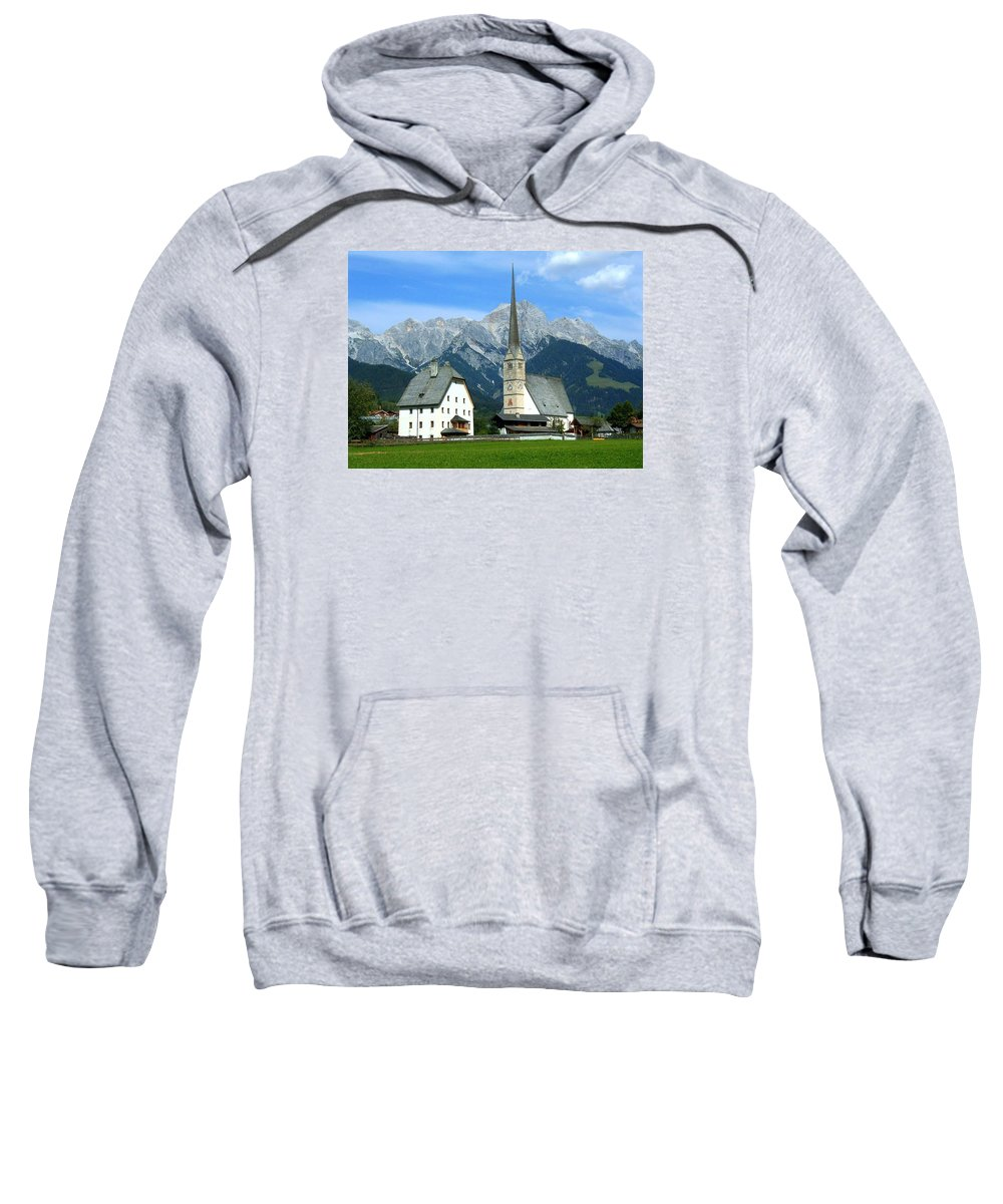 Europe Sweatshirt featuring the photograph Maria Alm by Juergen Weiss