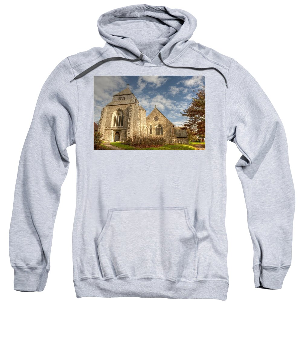 Minster Sweatshirt featuring the photograph Minster Abbey by Dave Godden