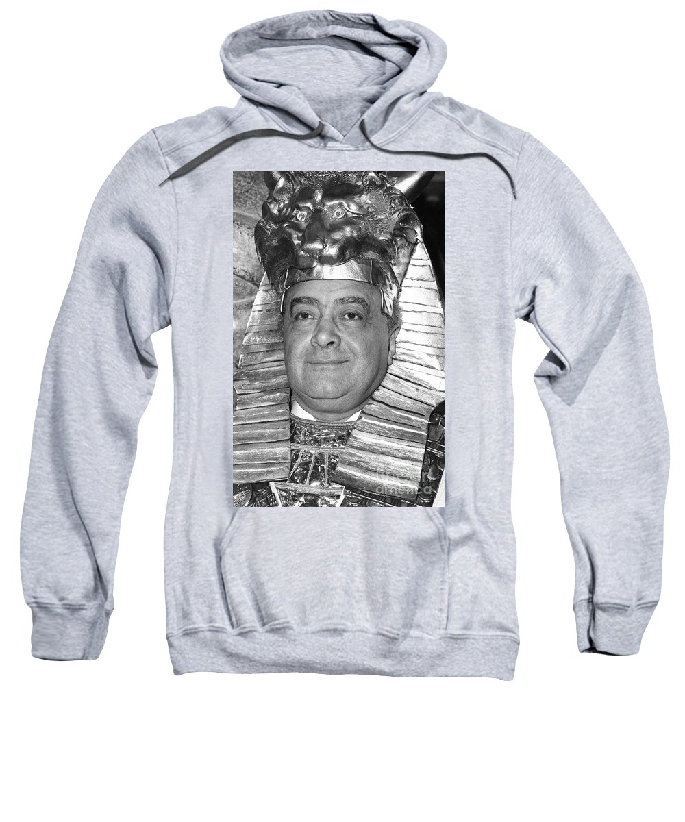 Mohamed Sweatshirt featuring the photograph Mohamed Al Fayed by David Fowler