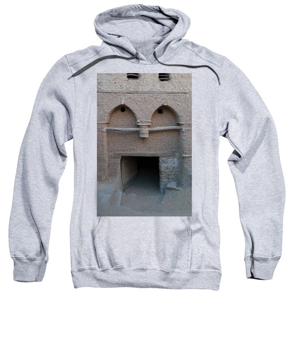 Egypt Mud Brick Village Sweatshirt featuring the digital art Mud Brick Village by Carol Ailles