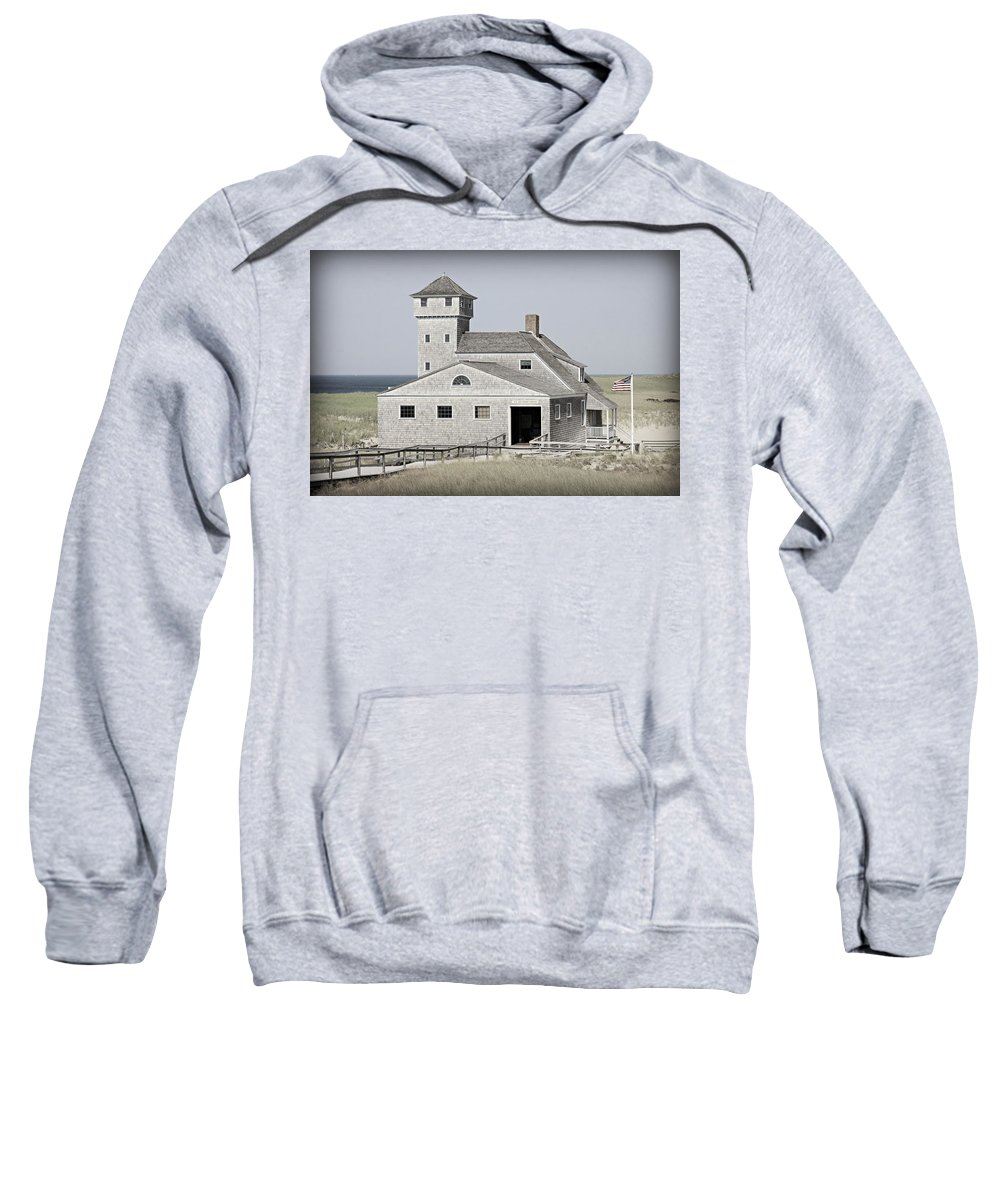 Cape Cod Sweatshirt featuring the photograph Old Harbor Lifesaving Station -- Cape Cod by Stephen Stookey