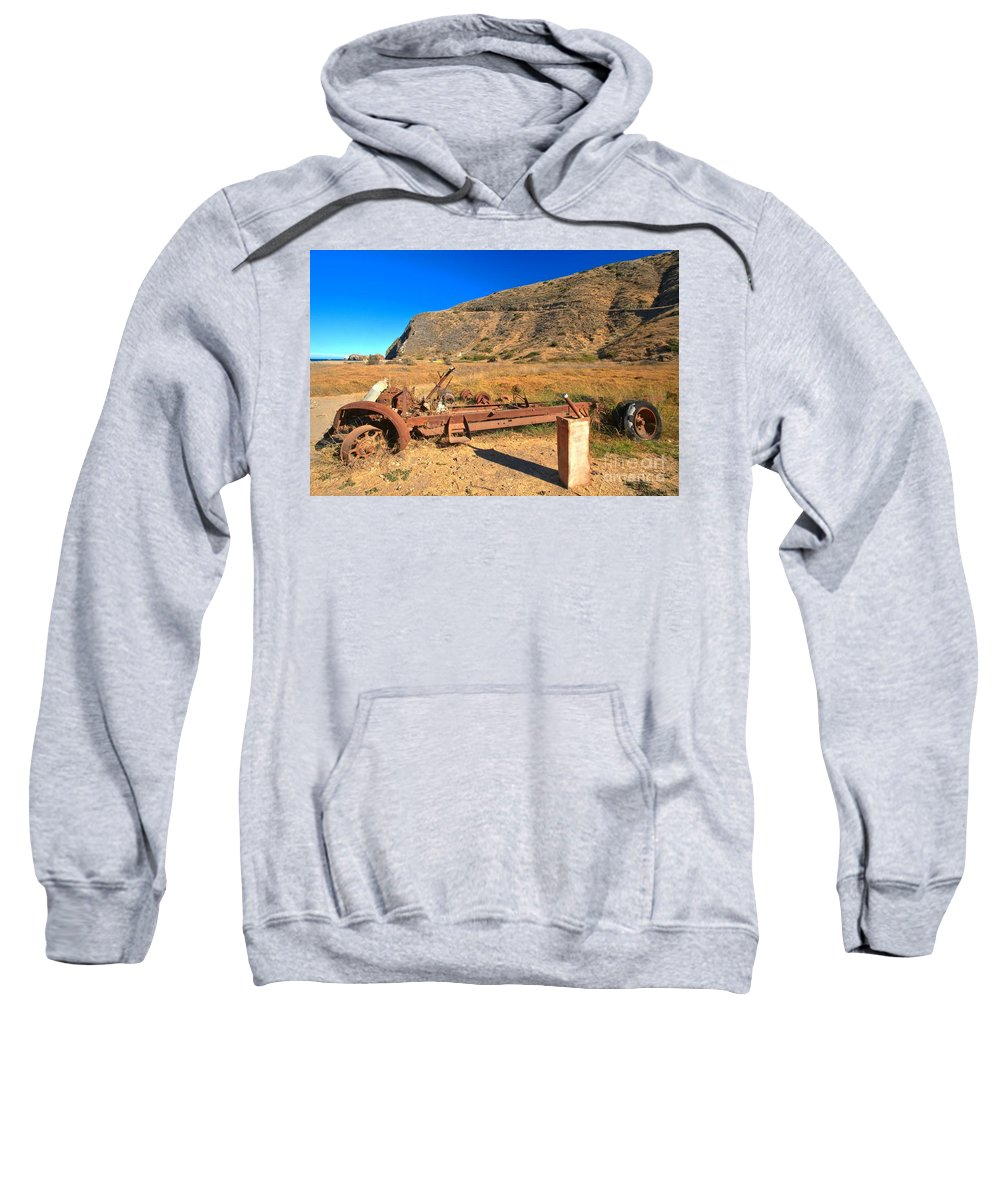 Scorpion Ranch Sweatshirt featuring the photograph Out Of Gas by Adam Jewell