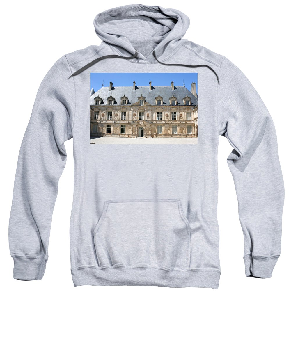 Palace.old Building Sweatshirt featuring the photograph Palace Bussy Rabutin - Burgundy by Christiane Schulze Art And Photography