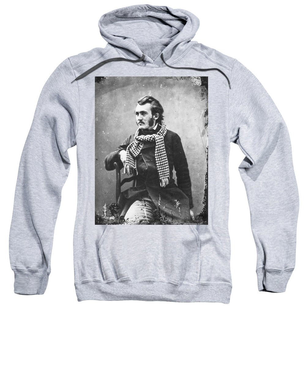 1855 Sweatshirt featuring the photograph Paul Gustave Dor� (1833-1883) by Granger