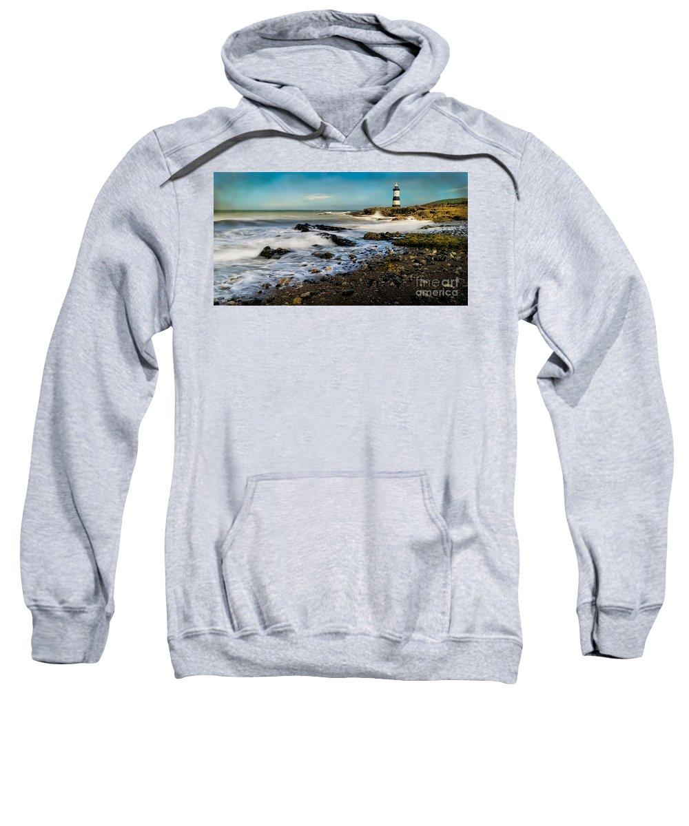 Lighthouse Sweatshirt featuring the photograph Penmon Lighthouse by Adrian Evans