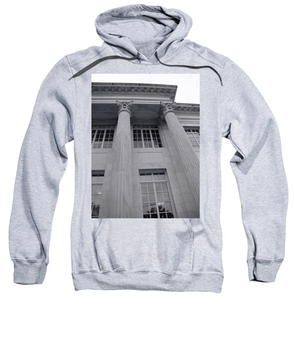 Sweatshirt featuring the photograph Pillars And Windows by Cathy Anderson