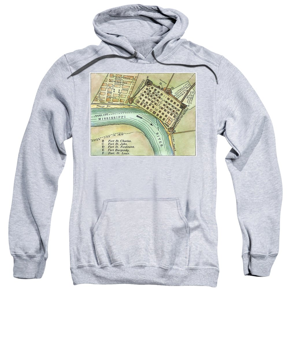 1798 Sweatshirt featuring the photograph Plan Of New Orleans, 1798 by Granger