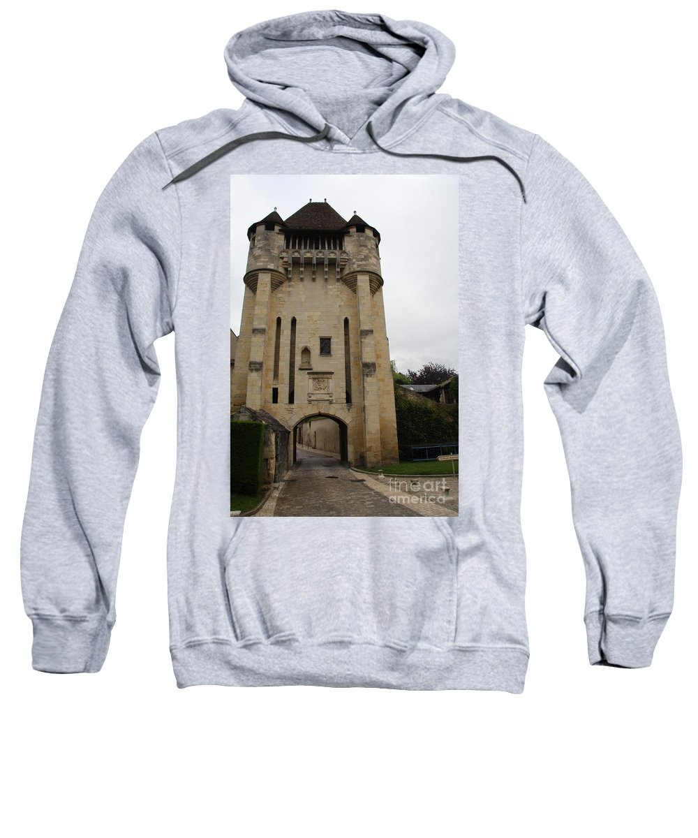 Town Gate Sweatshirt featuring the photograph Porte Du Croux Nevers by Christiane Schulze Art And Photography