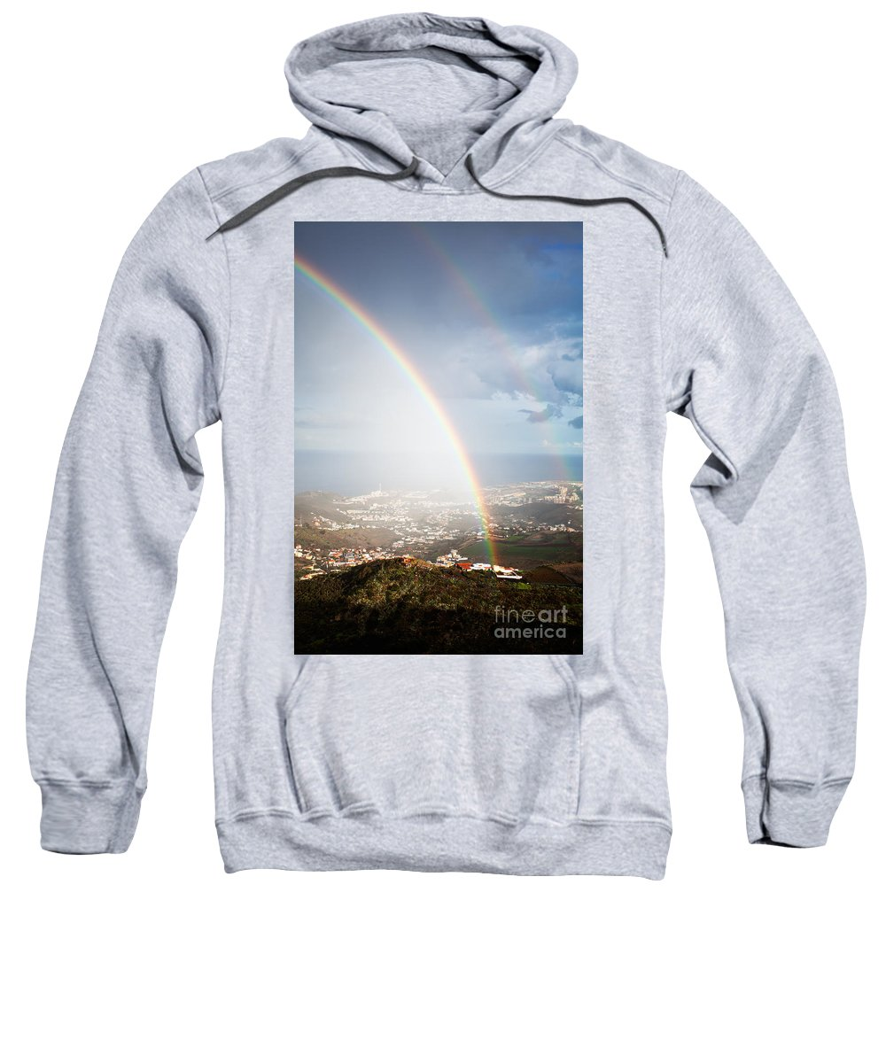 Sky Sweatshirt featuring the photograph Rainbow by Kati Finell