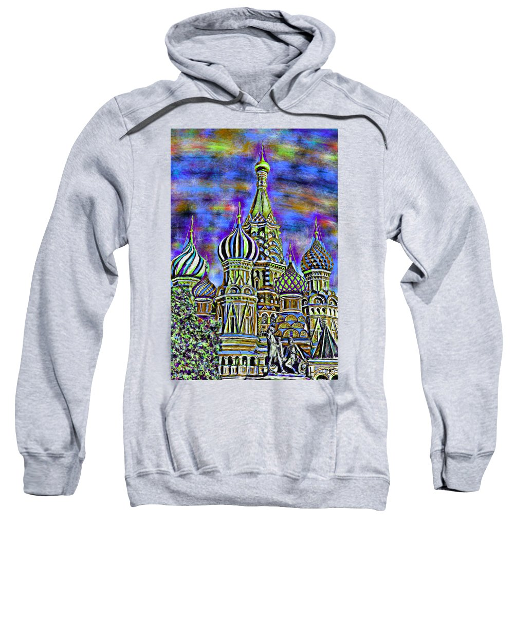 Church Sweatshirt featuring the painting Rainbow Temple by Bruce Nutting