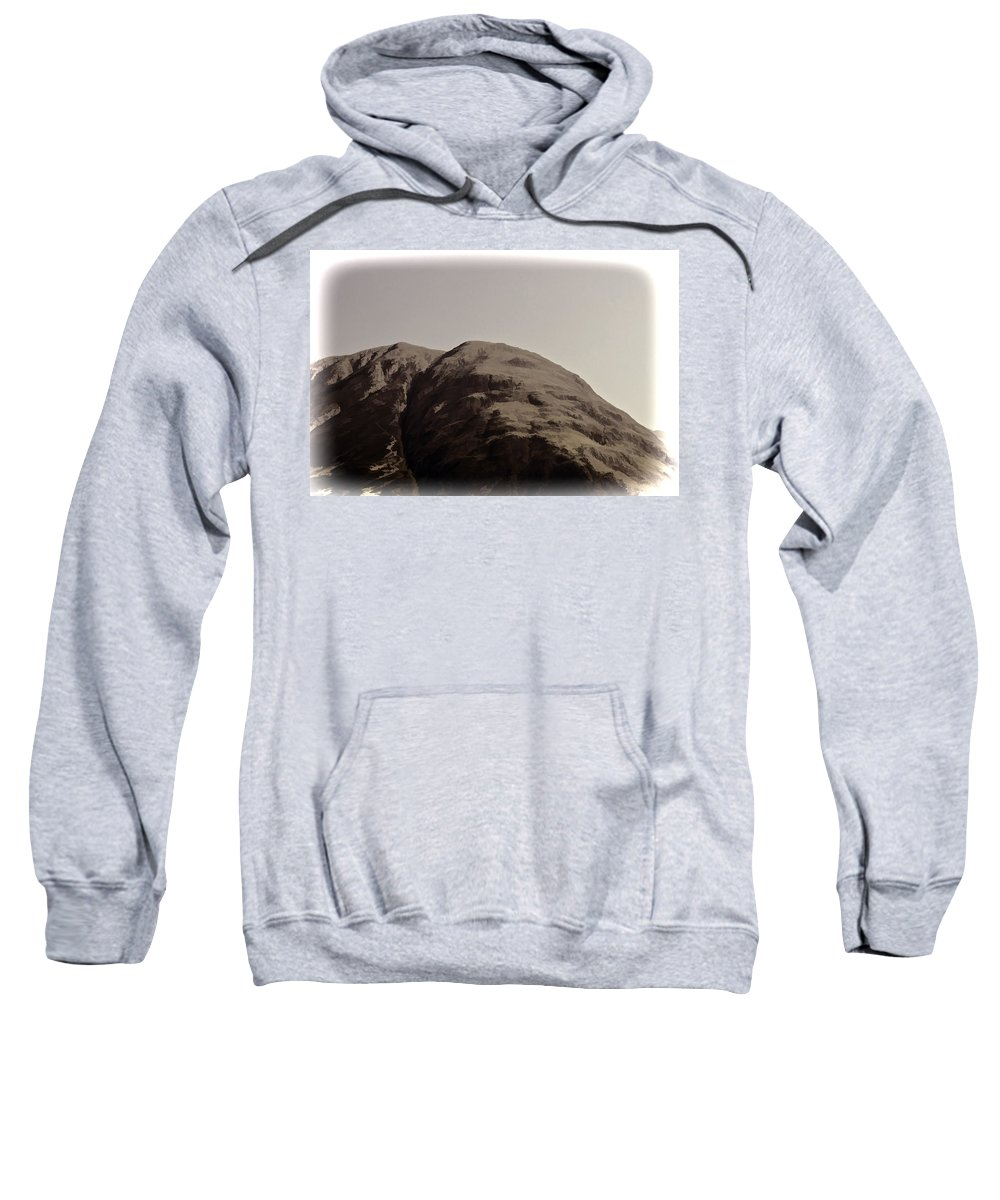 Blue Sky Sweatshirt featuring the photograph Rocky Hill In The Scottish Highlands by Ashish Agarwal