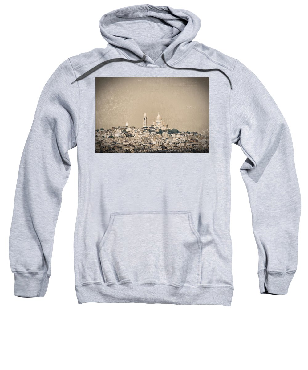Montmartre Sweatshirt featuring the photograph Sacre Coeur Basilica Of Montmartre In Paris by Dutourdumonde Photography
