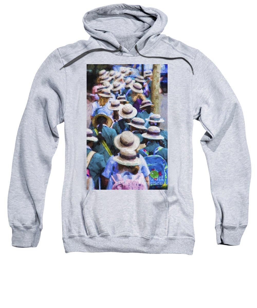 Sea Of Hats Sweatshirt featuring the photograph Sea of Hats by Sheila Smart Fine Art Photography