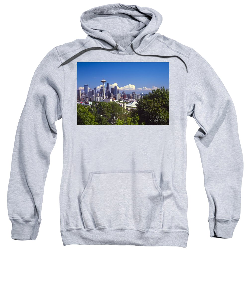 Seattle Sweatshirt featuring the photograph Seattle City View by Bob Phillips