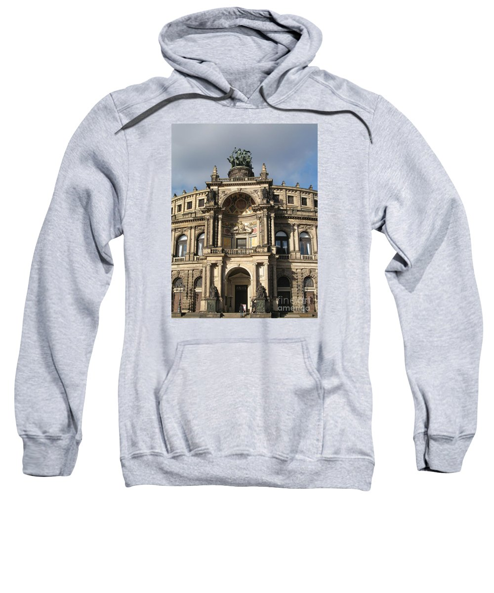 Opera Sweatshirt featuring the photograph Semper Opera Dresden Germany by Christiane Schulze Art And Photography