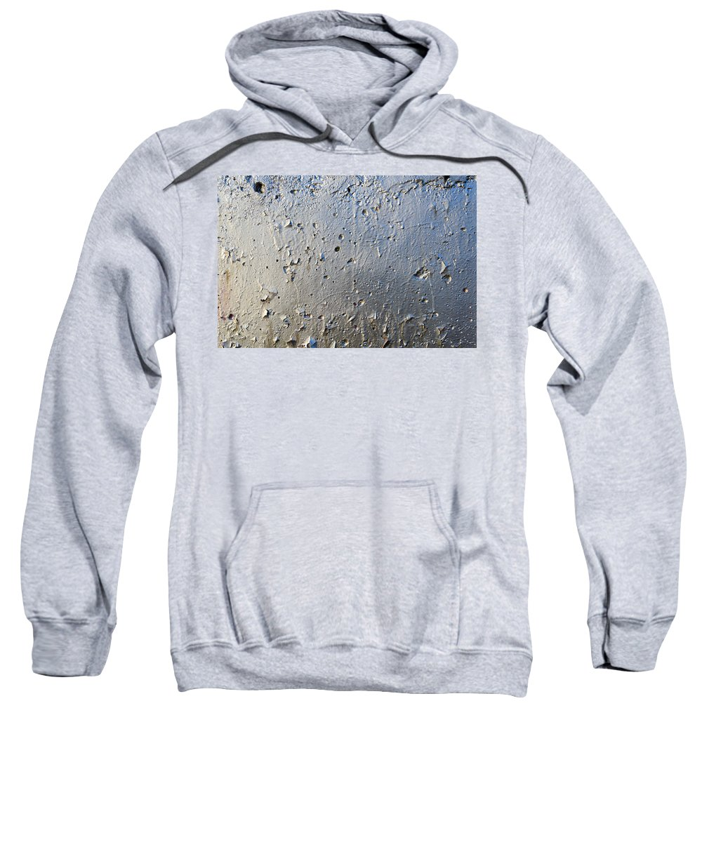 Abstract Sweatshirt featuring the photograph Silver Paint Texture by Alain De Maximy