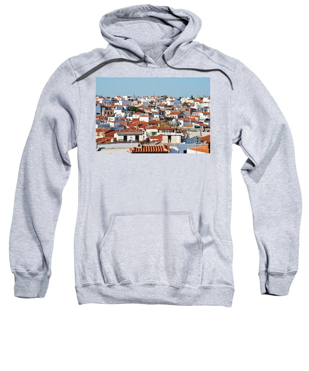 Skiathos Sweatshirt featuring the photograph Skiathos Town by David Fowler