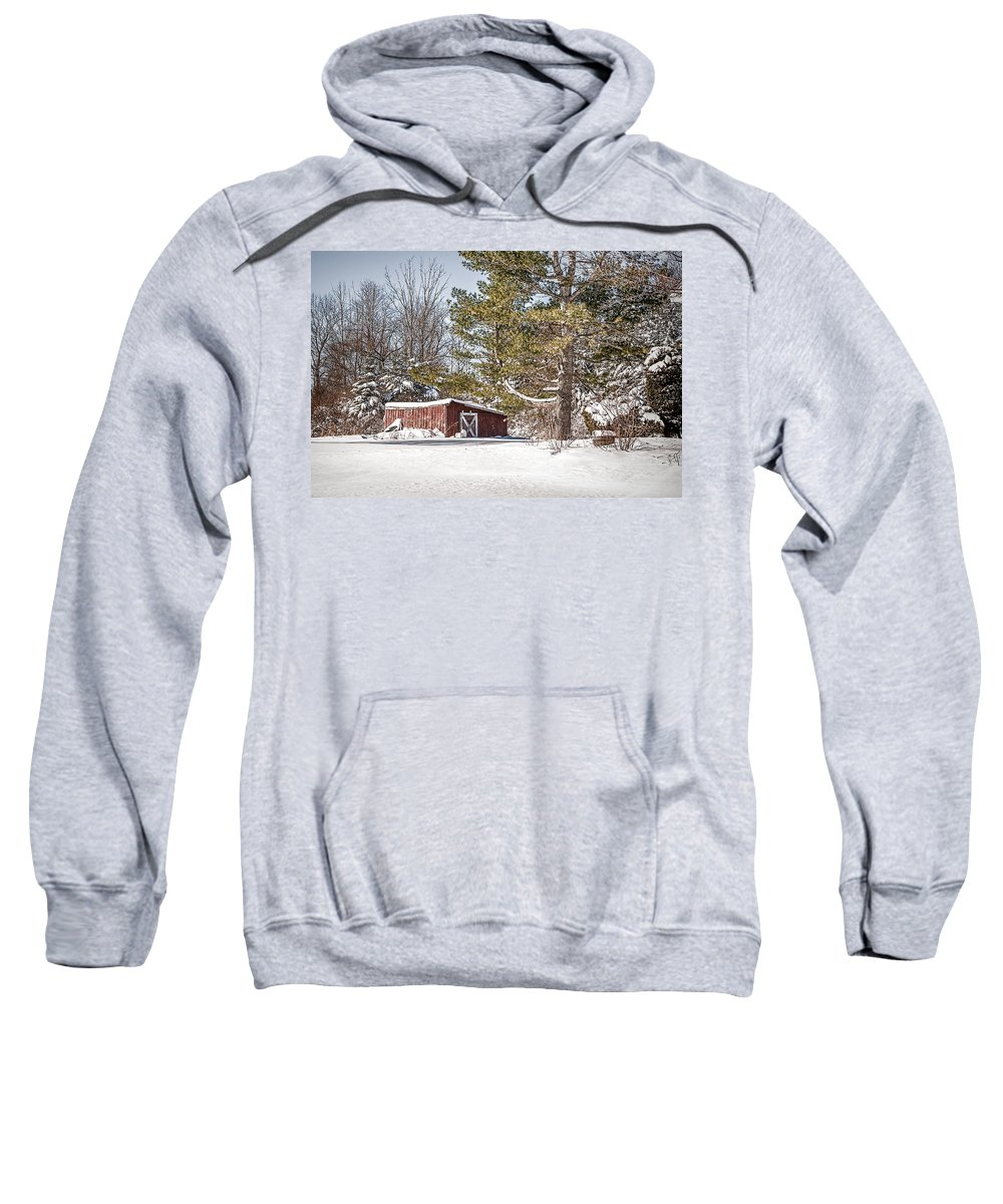 Snow Sweatshirt featuring the photograph Snow In The Country by Ray Summers Photography