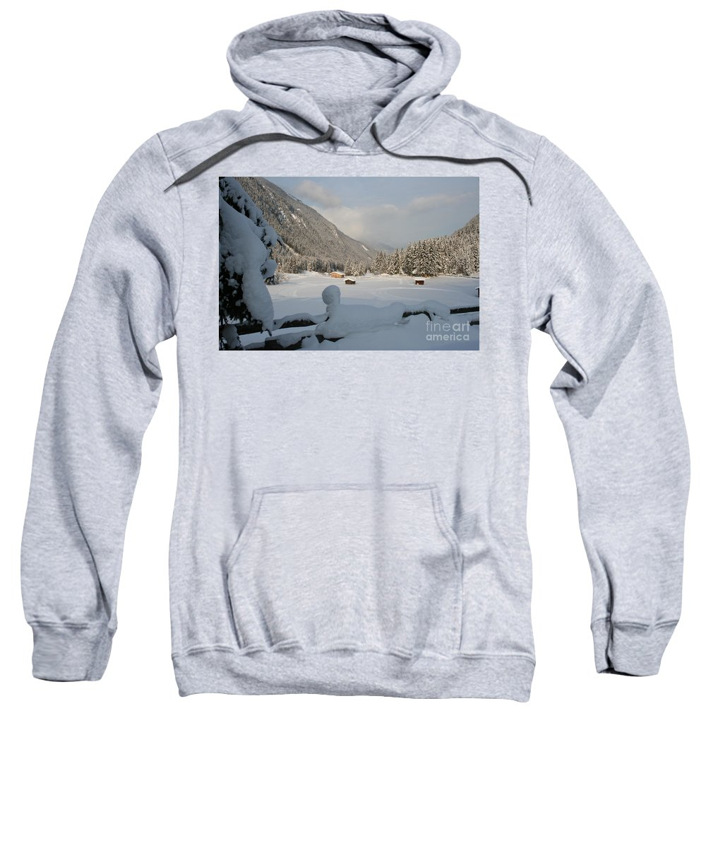 Snow Sweatshirt featuring the photograph Snowed Under by Christiane Schulze Art And Photography