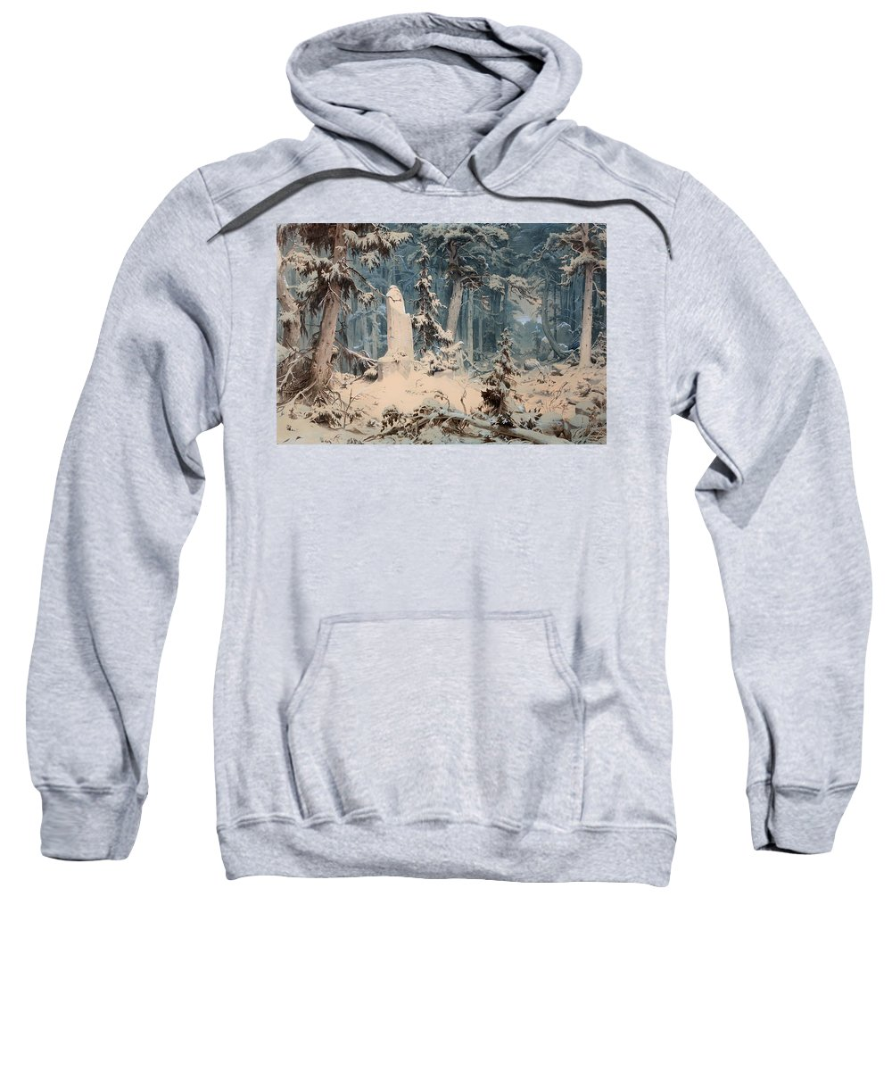 Painting Sweatshirt featuring the painting Snowy Forest by Mountain Dreams