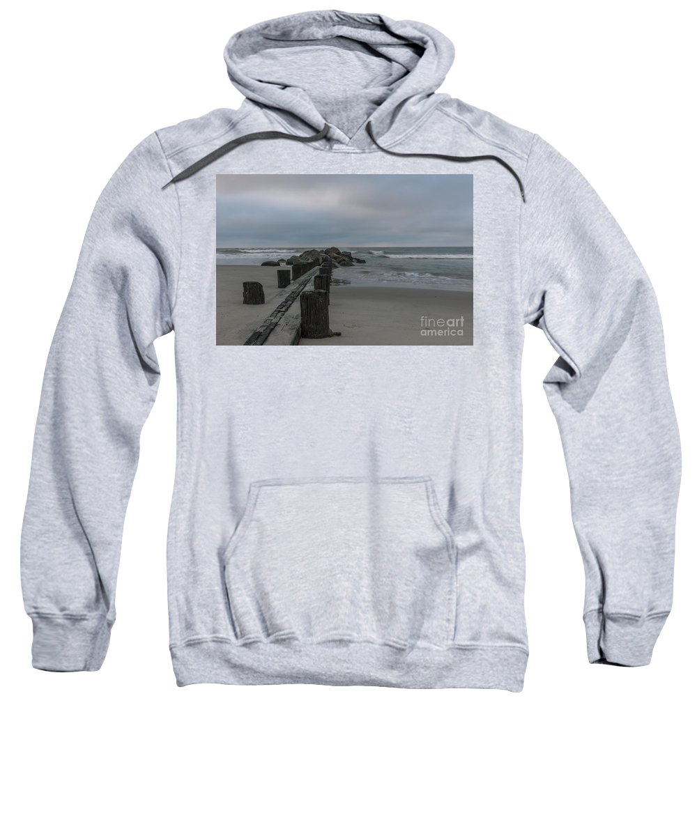 Folly Beach Sweatshirt featuring the photograph Storm Clouds Brewing by Dale Powell