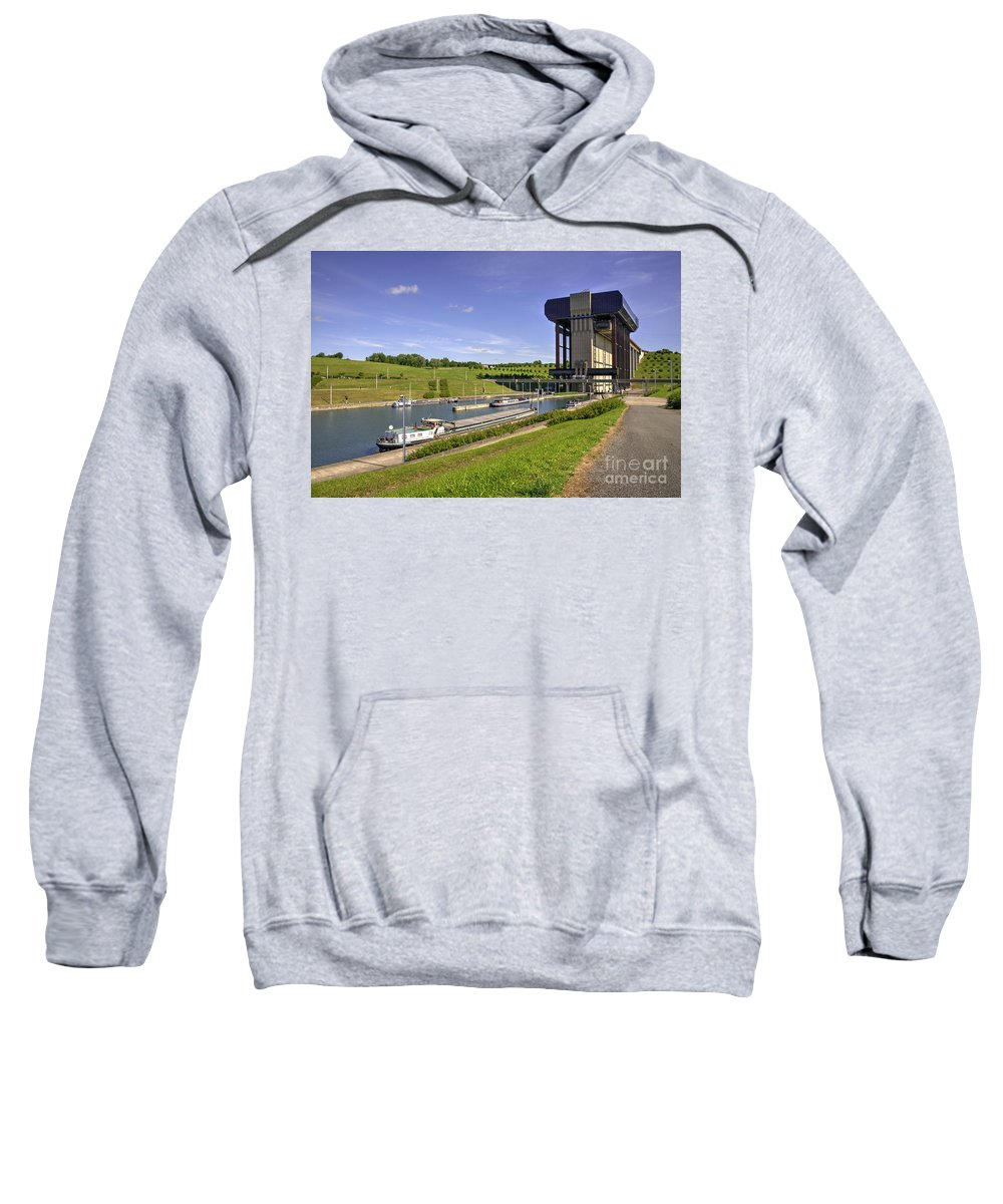 Strepy Sweatshirt featuring the photograph Strepy Thieu Boat Lift by Rob Hawkins