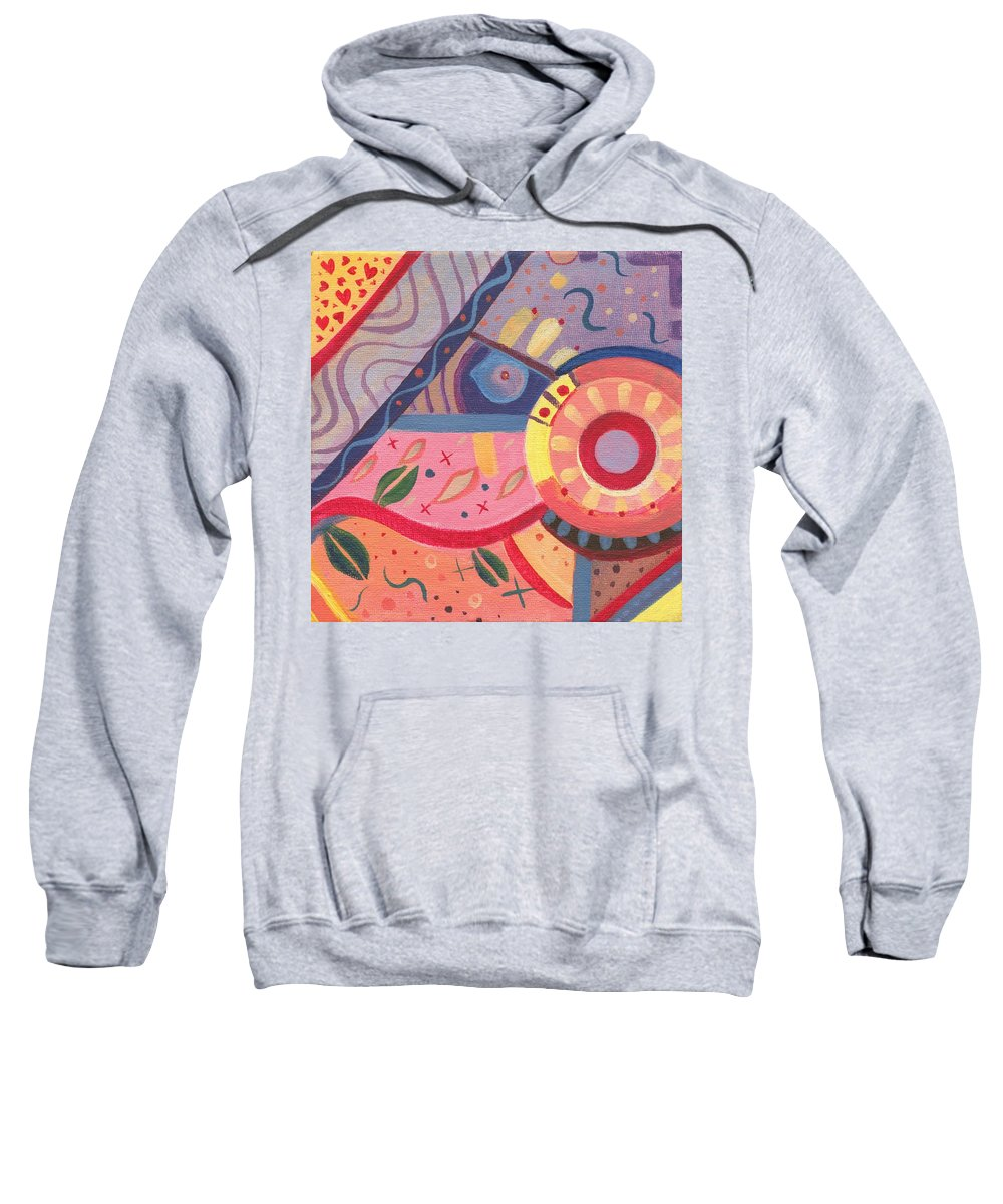 Abstract Sweatshirt featuring the digital art The Joy Of Design X V I I I Part 2 by Helena Tiainen