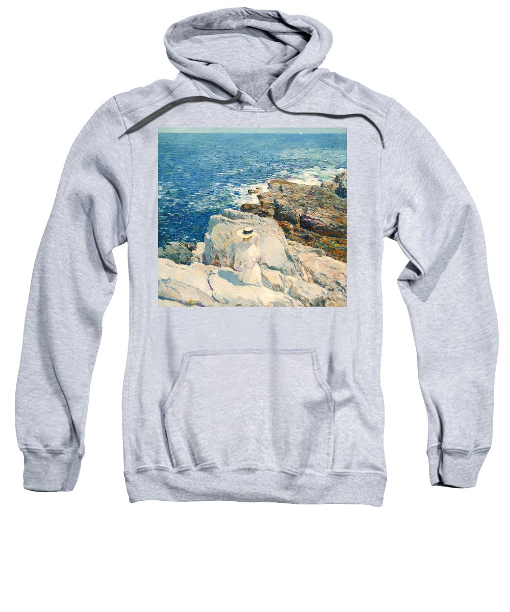Painting Sweatshirt featuring the painting The South Ledges Appledore by Mountain Dreams