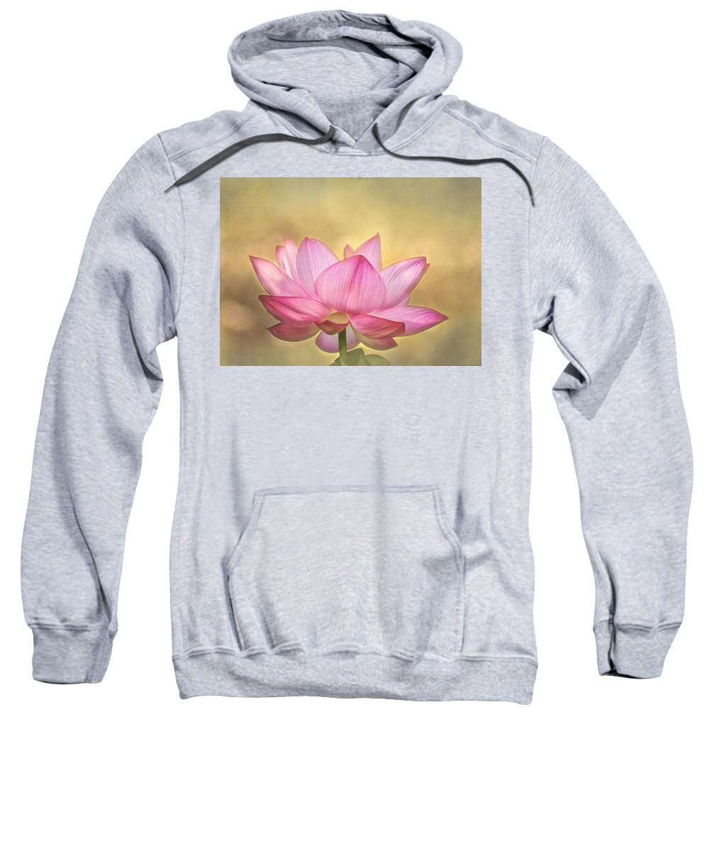 Lotus Sweatshirt featuring the photograph Tropical Lotus Flower by Kim Hojnacki
