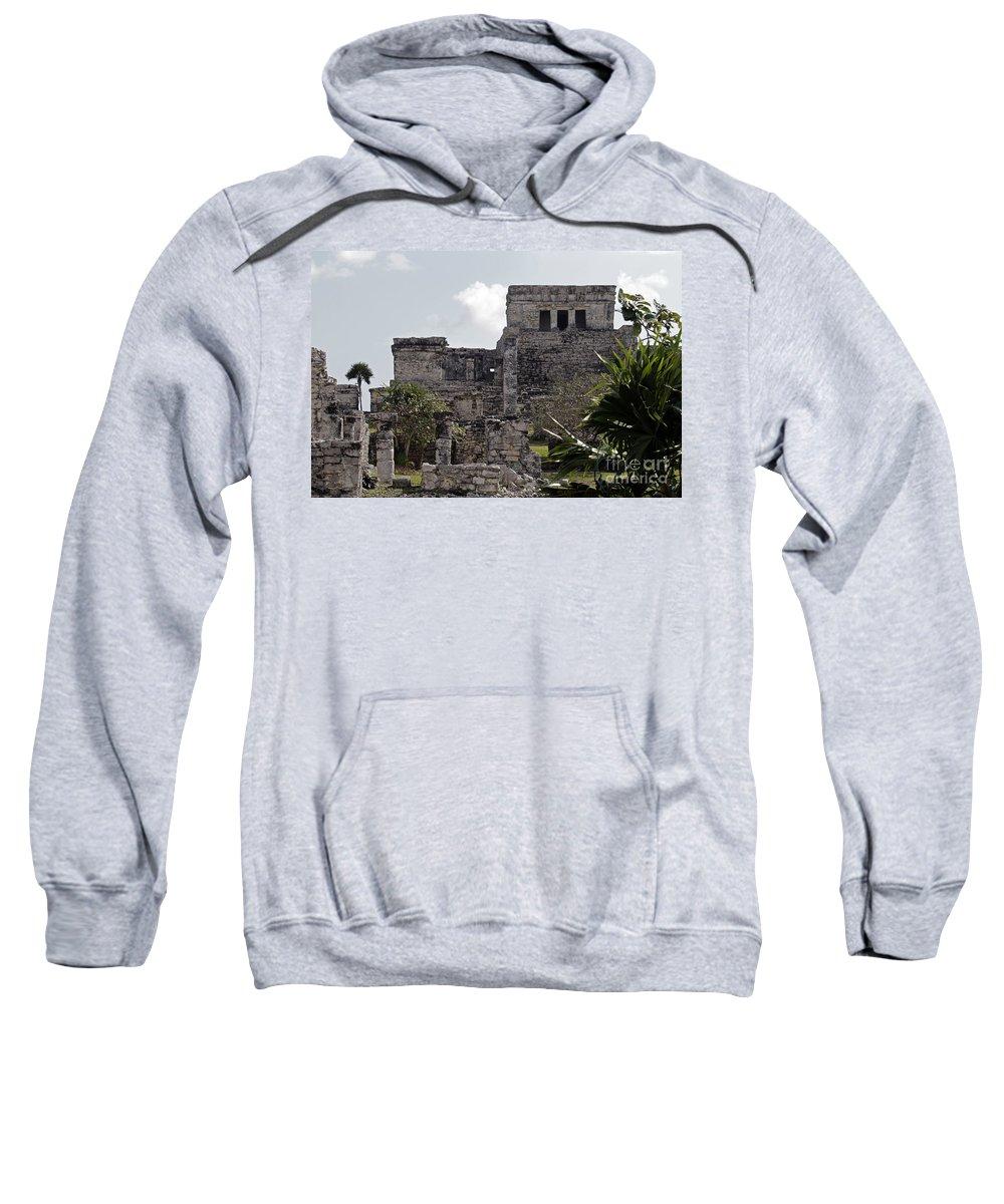 Tulum Sweatshirt featuring the photograph Tulum Ruins Mexico by Kathy DesJardins