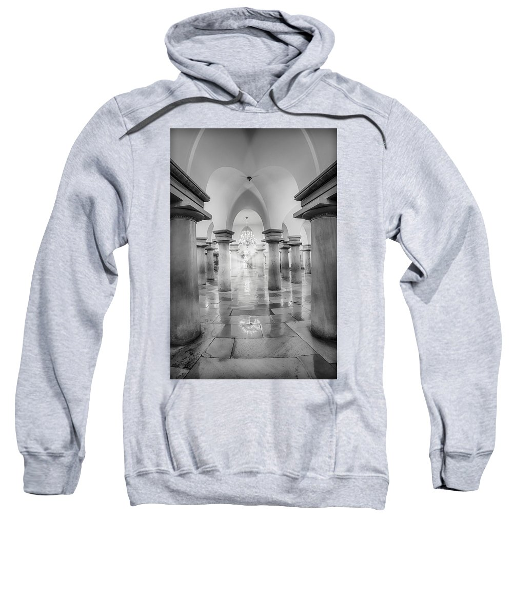 District Of Columbia Sweatshirt featuring the photograph United States Capitol Crypt by Susan Candelario