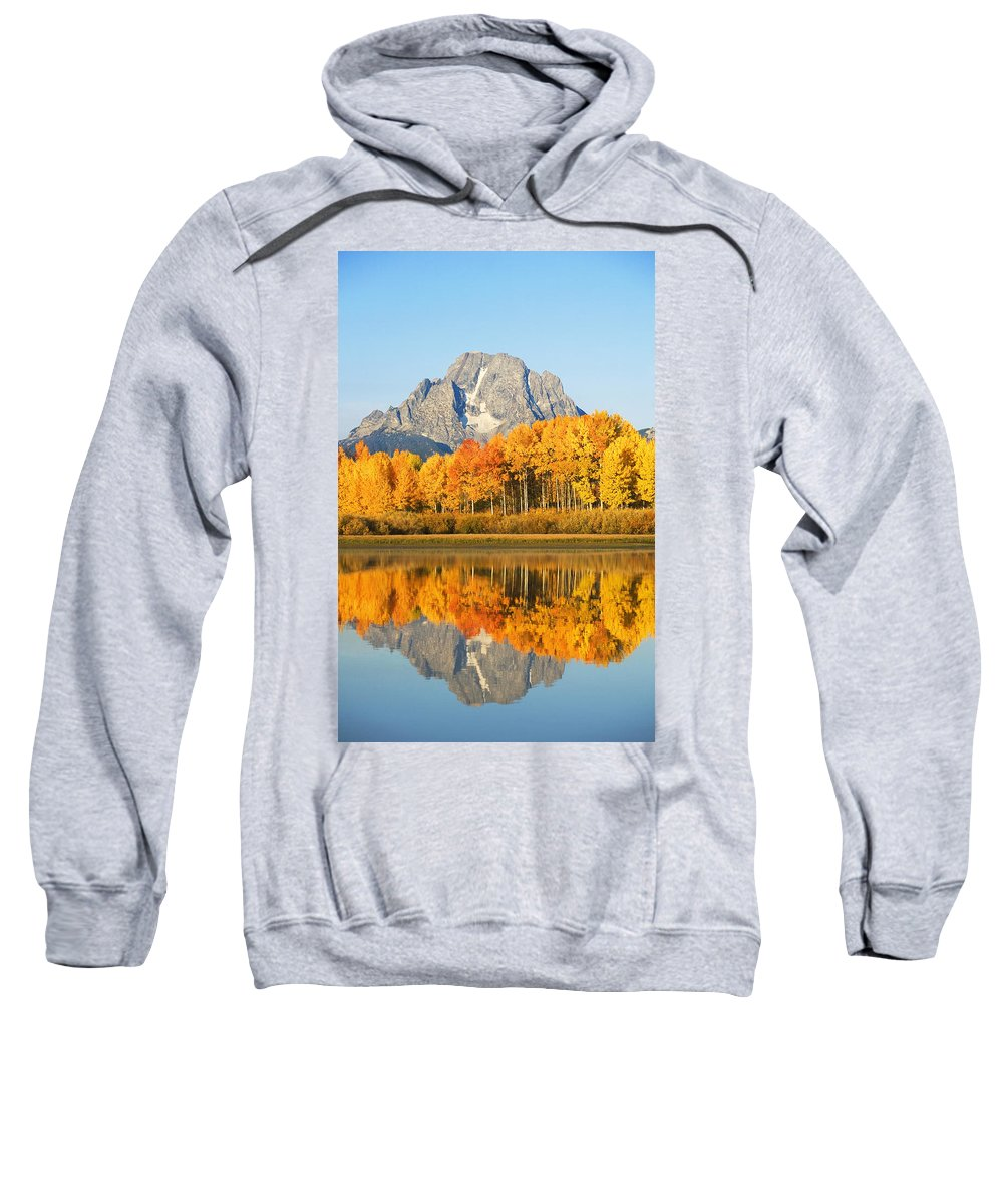 View Sweatshirt featuring the photograph Usa, Grand Teton National Park Wyoming by Ron Dahlquist