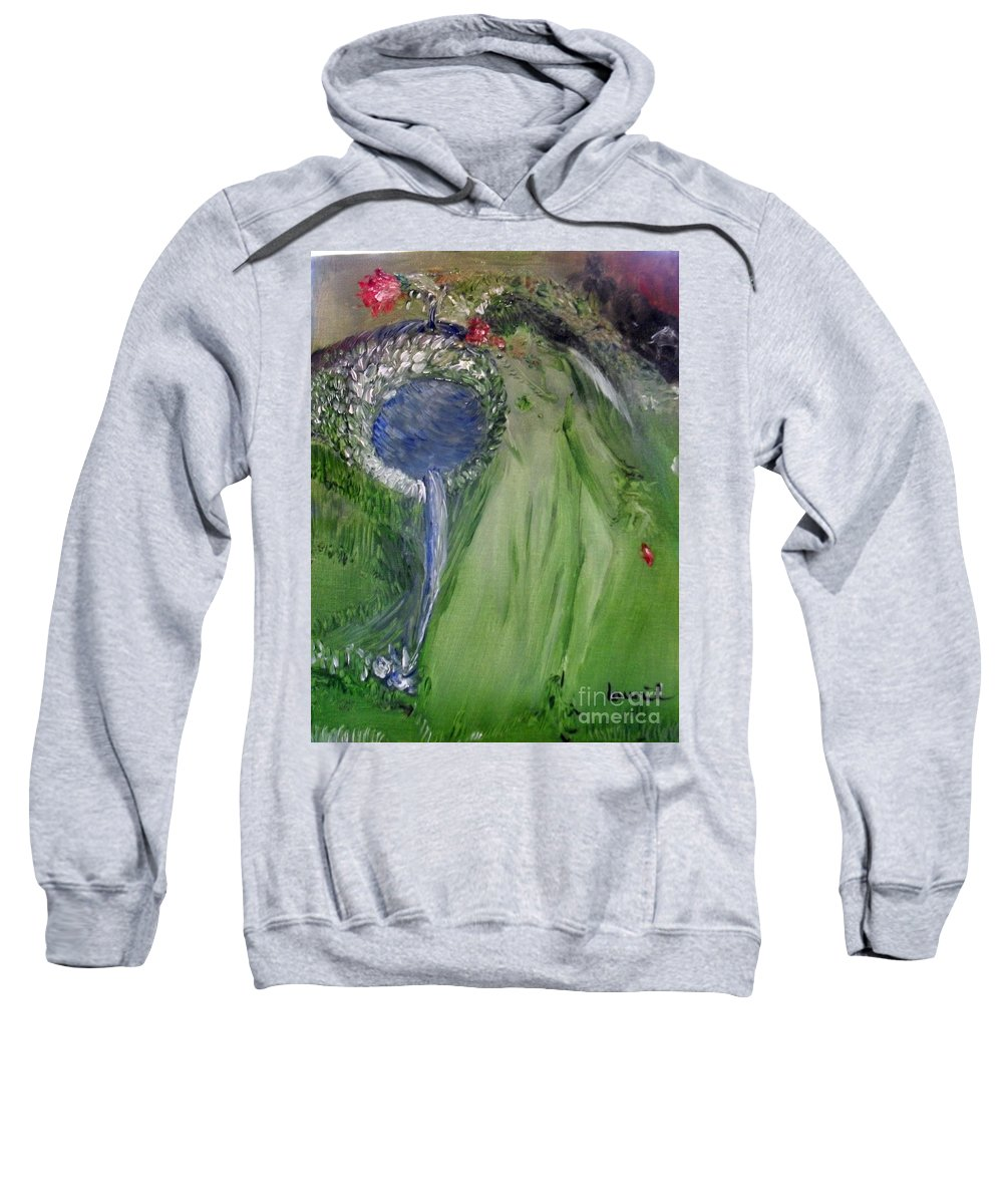 Girl Sweatshirt featuring the painting Water Girl by Laurie Lundquist