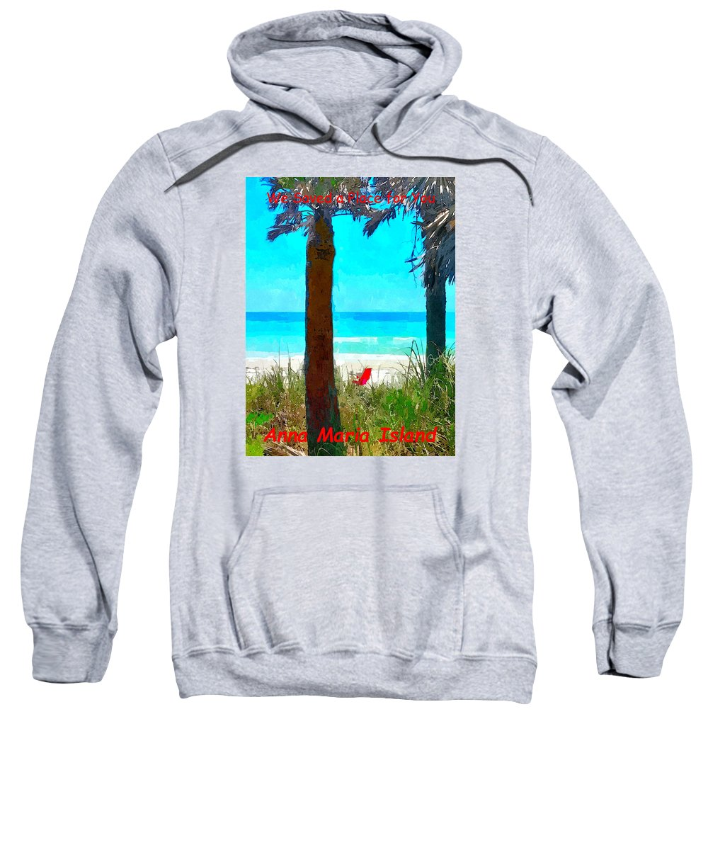 we Saved A Place For You Sweatshirt featuring the photograph We Saved A Place For You by Susan Molnar