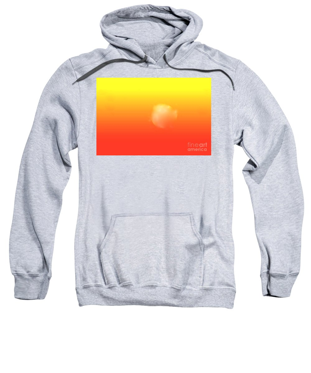 Sunrise Filtered Through Red And Yellow Sky Sweatshirt featuring the digital art White Sun by Hugh Thompson
