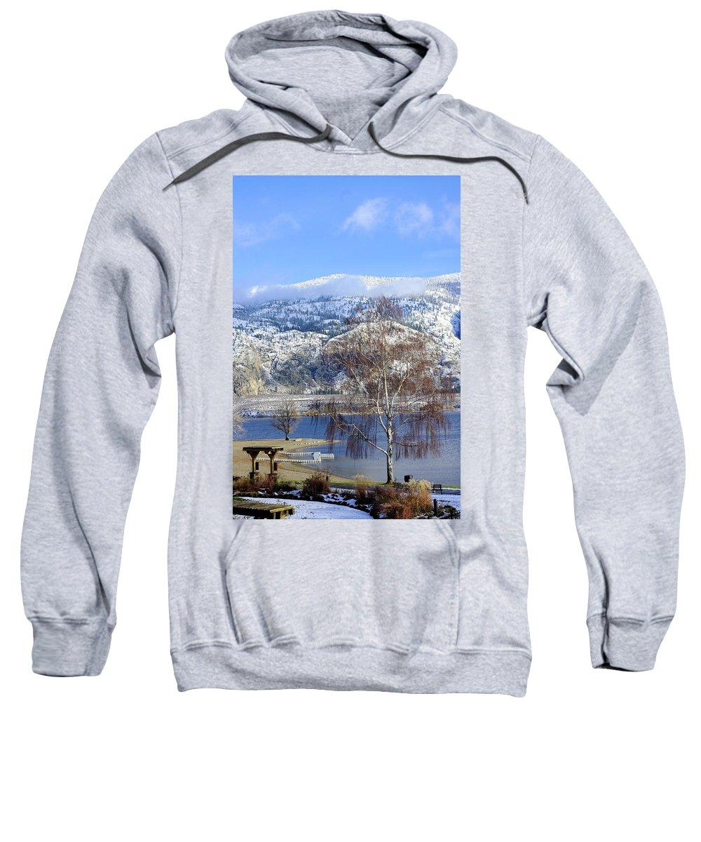 Winter Sweatshirt featuring the photograph Winter Beach by John Greaves
