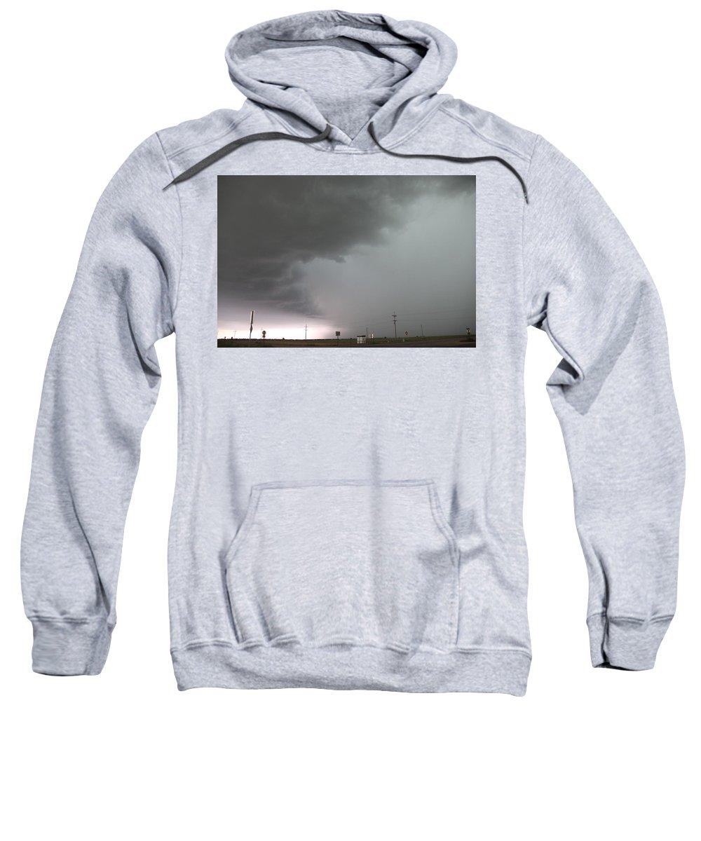 Stormscape Sweatshirt featuring the photograph Nebraska Panhandle Supercells by NebraskaSC