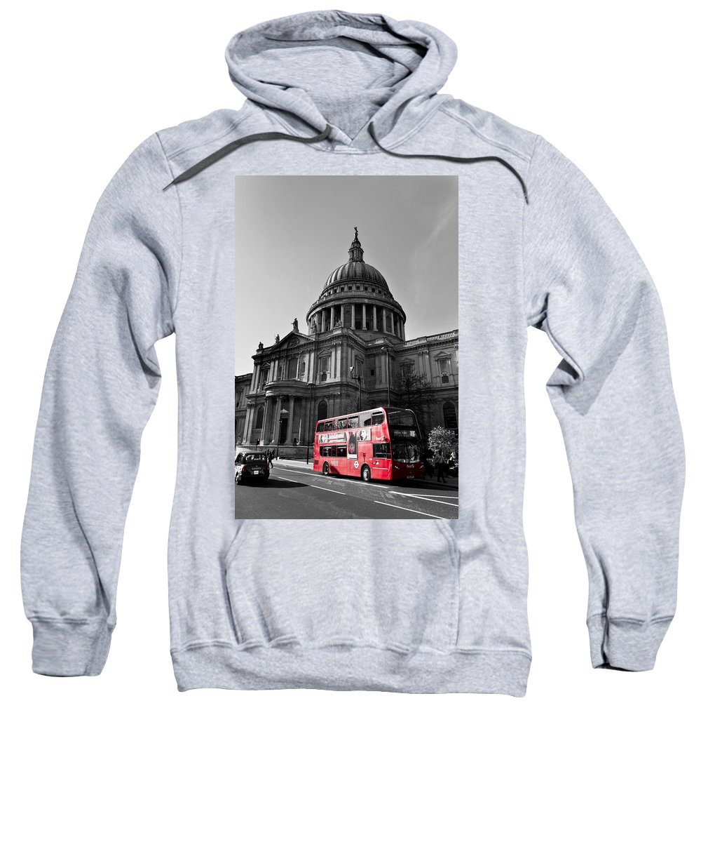 St Paul's Sweatshirt featuring the photograph St Paul's Cathedral London by David Pyatt