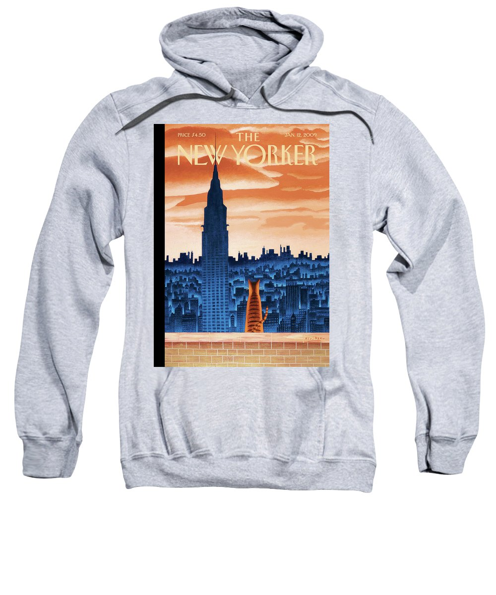 Nyc Sweatshirt featuring the painting New Yorker January 12th, 2009 by Mark Ulriksen