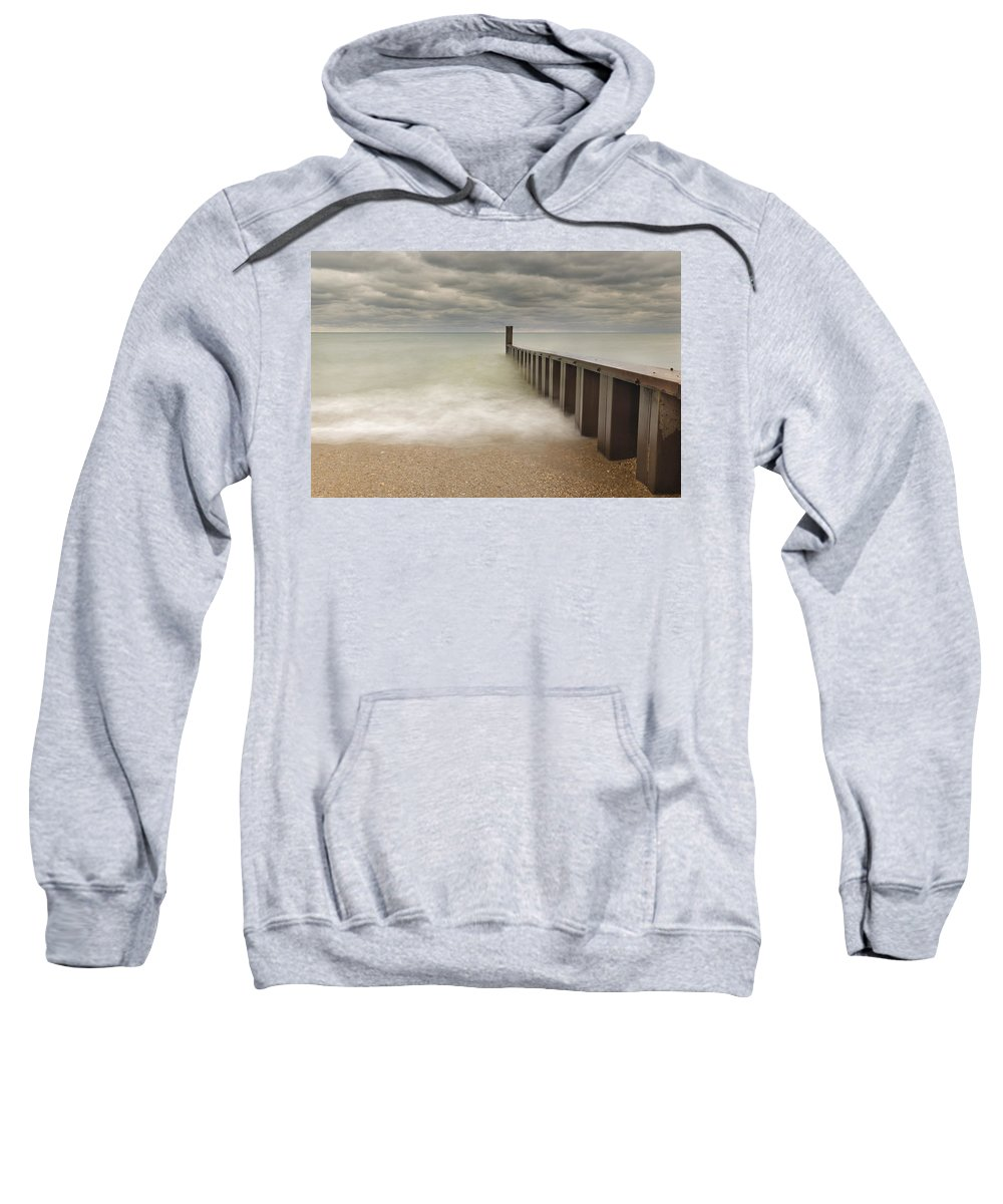 Lake Michigan Sweatshirt featuring the photograph Breakwater by Peter Lakomy