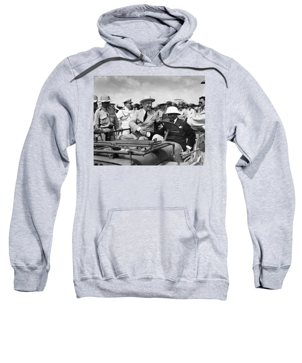 1943 Sweatshirt featuring the photograph Franklin D by Granger