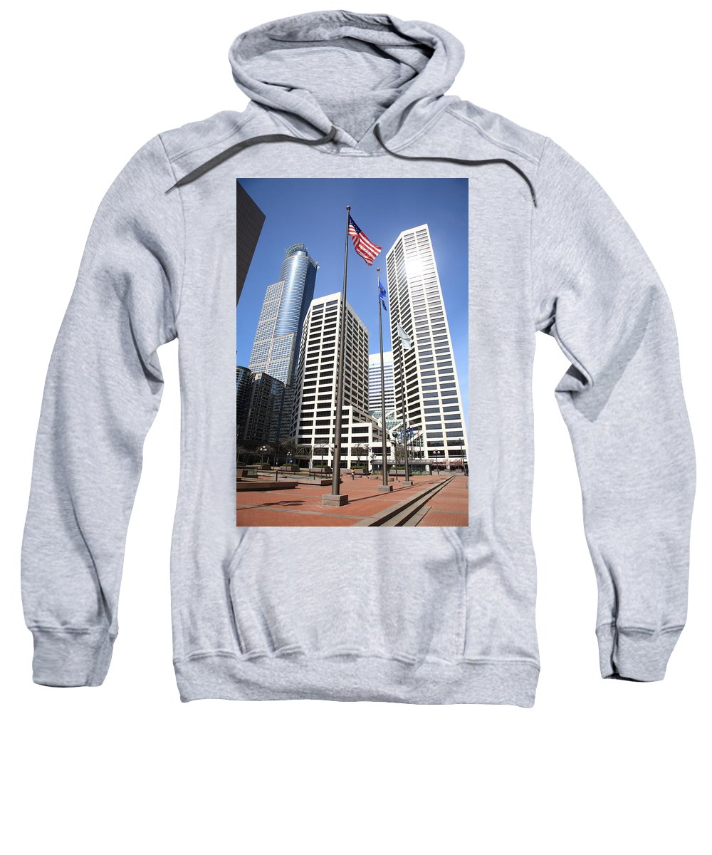 America Sweatshirt featuring the photograph Minneapolis Skyscrapers by Frank Romeo