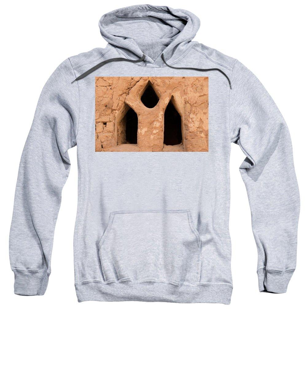 Egypt Mud Brick Village Sweatshirt featuring the digital art Mud Brick Village by Carol Ailles